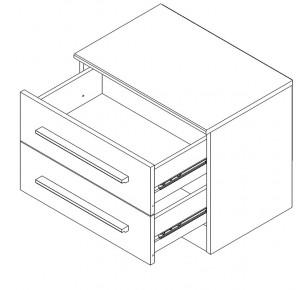 Alix 2 tiroirs - Parisot