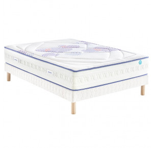 CHEER FULLY, Sommier Confort Medium Morphologique 3 Zones et Pieds
