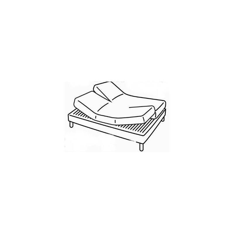 protege matelas pour lit electrique 2x80x200 amazing cheap matelas pour lit electrique matelas. Black Bedroom Furniture Sets. Home Design Ideas
