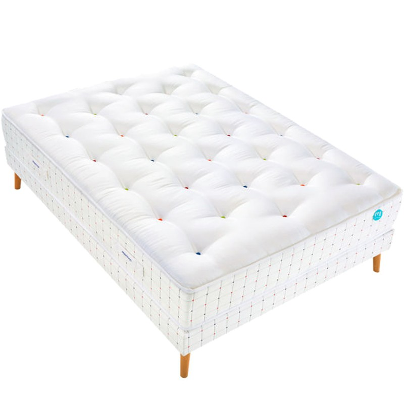 ensemble m rinos matelas colors sommier confort medium et. Black Bedroom Furniture Sets. Home Design Ideas