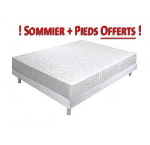Ensemble LIOTARD Crown bedding, Sommier et Pieds offerts