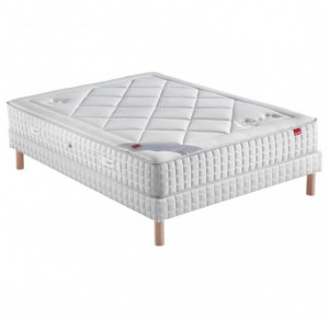 AMANDIER + Sommier Confort Medium + Pieds