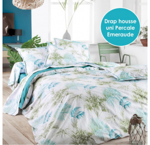 PERCALE TROPICAL EMERAUDE