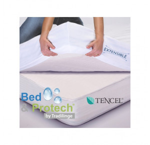 100% COTON BED & PROTECH' TENCEL - 2 EN 1