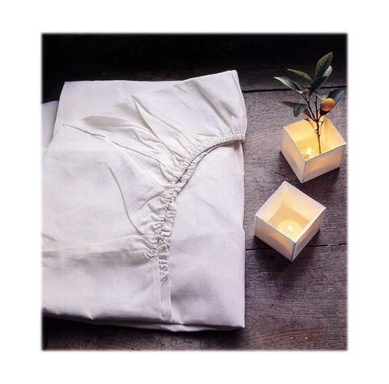 Drap housse Blanc Percale
