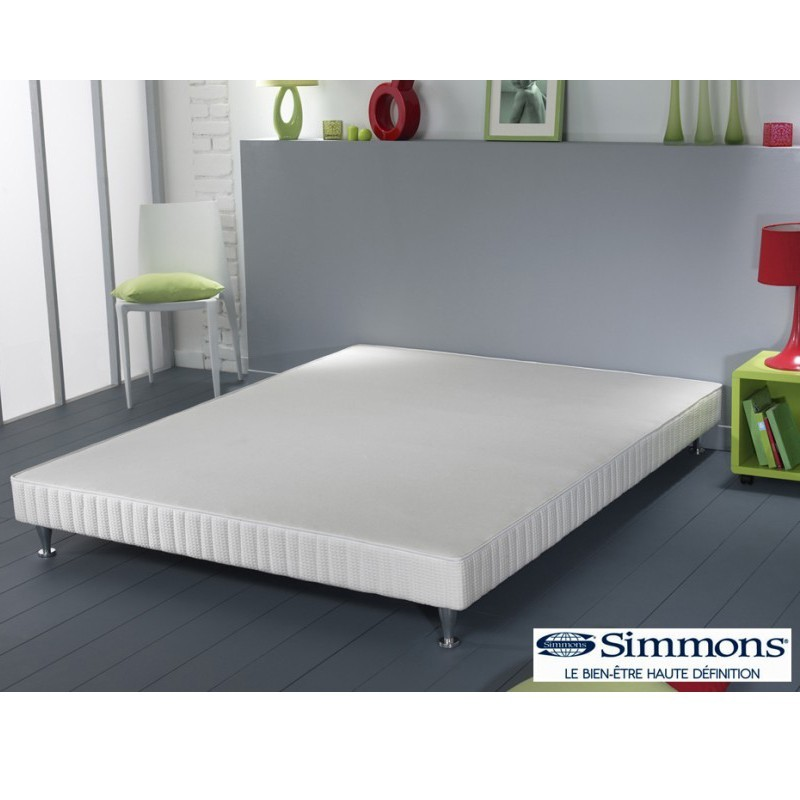 sommier lattes qualisom simmons. Black Bedroom Furniture Sets. Home Design Ideas