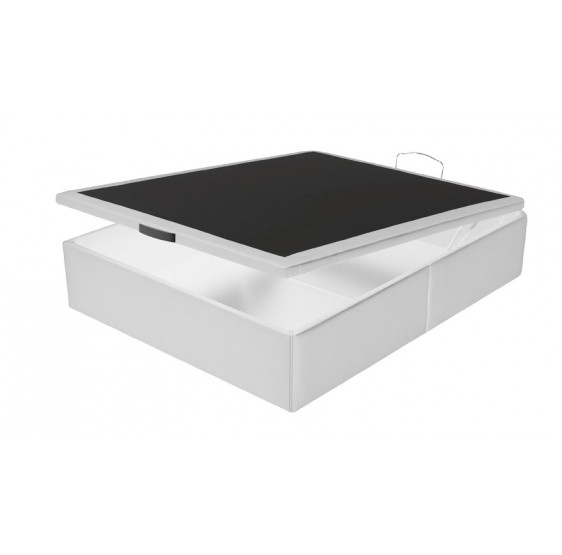 Sommier Coffre effet cuir Blanc Crown bedding