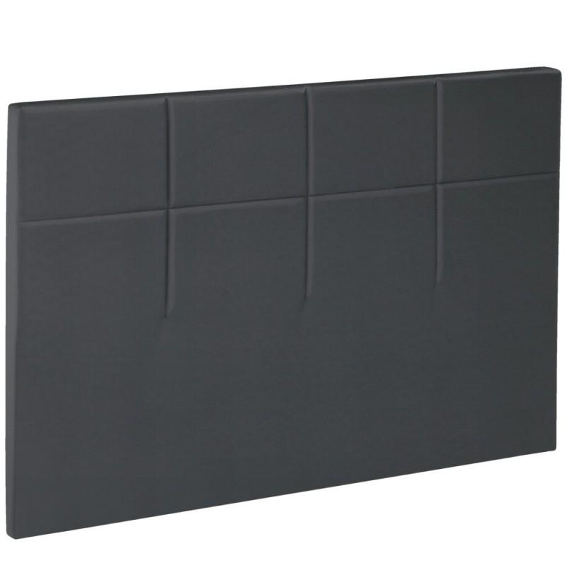 t te de lit bultex decoration hauteur 120 cm salina anthracite. Black Bedroom Furniture Sets. Home Design Ideas