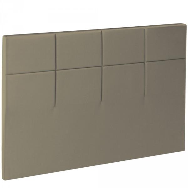 t te de lit bultex decoration hauteur 120 cm salina daim. Black Bedroom Furniture Sets. Home Design Ideas