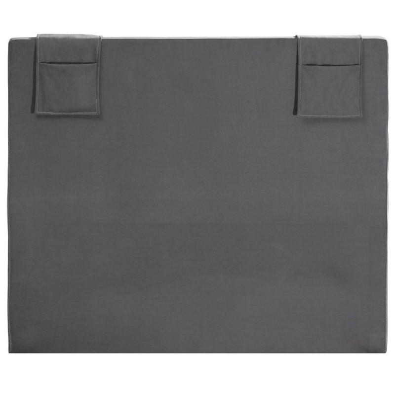 t te de lit merinos decoration hauteur 120 cm hopla gris beton. Black Bedroom Furniture Sets. Home Design Ideas
