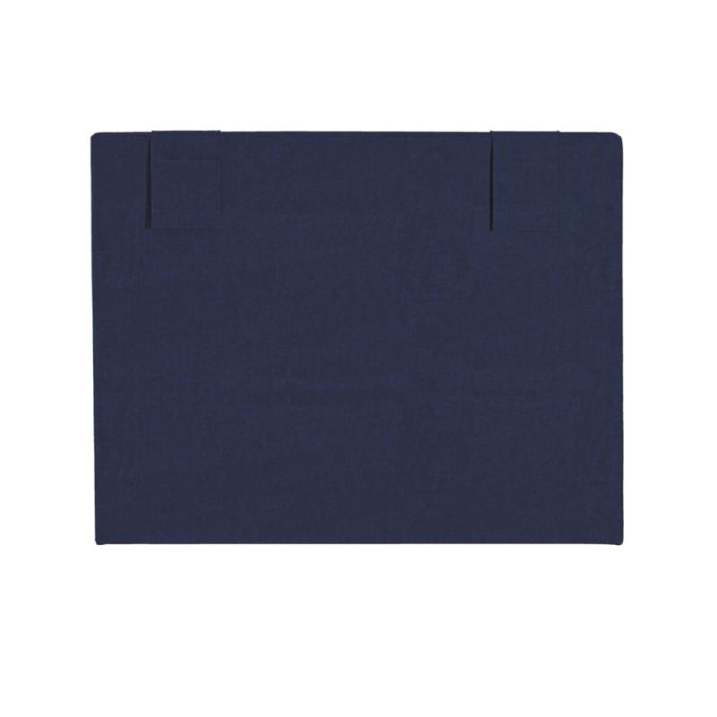 T te de lit merinos decoration hauteur 120 cm hopla bleu nuit - Tete de lit bleu ...