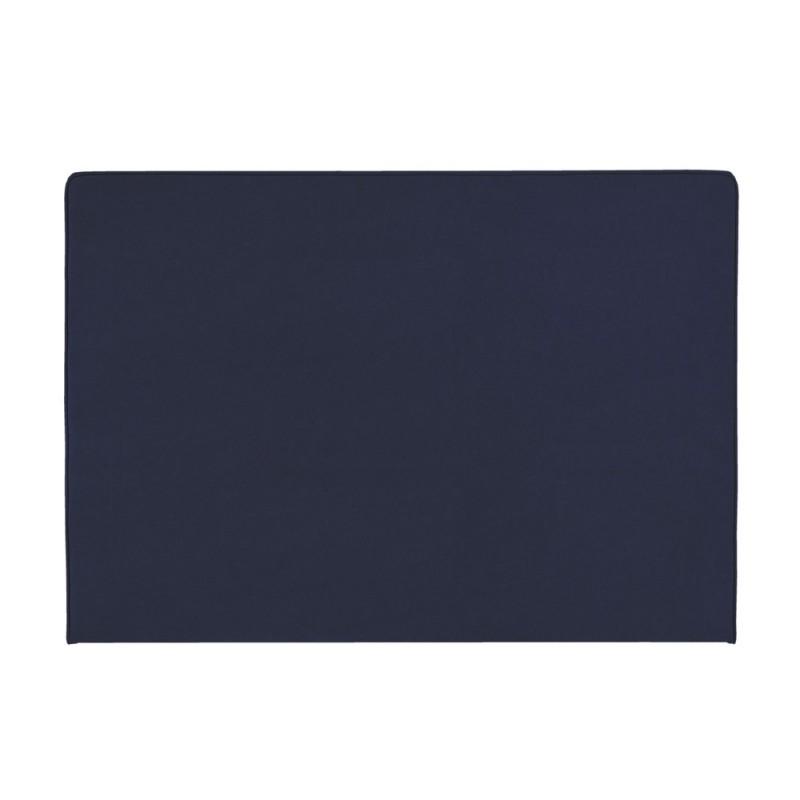 t te de lit merinos decoration hauteur 120 cm melty bleu nuit. Black Bedroom Furniture Sets. Home Design Ideas