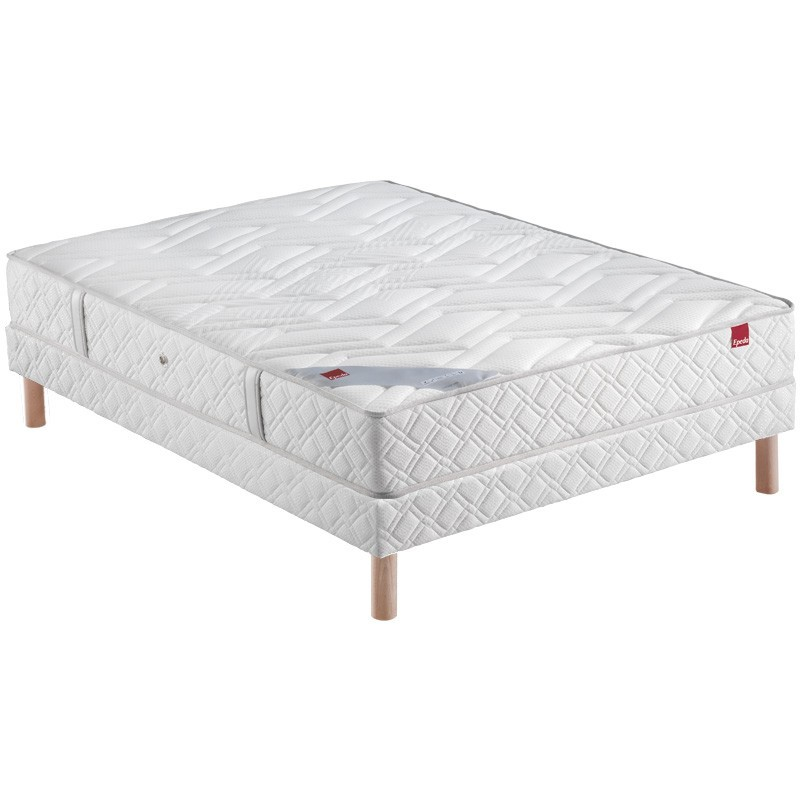 ensemble epeda paillette ressorts literie matelas sommier 1001lits. Black Bedroom Furniture Sets. Home Design Ideas