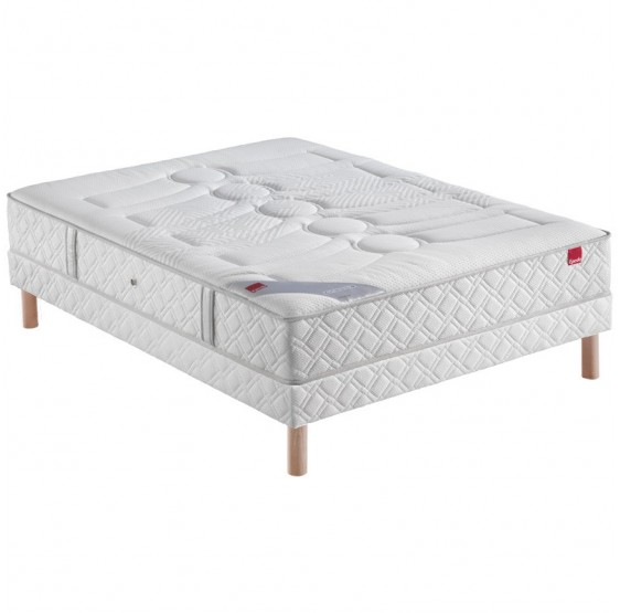 ensemble epeda poudr ressorts literie matelas sommier. Black Bedroom Furniture Sets. Home Design Ideas