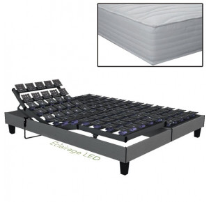 Ensemble électrique Eden, matelas Confort Visco - Plots, Mousse Visco