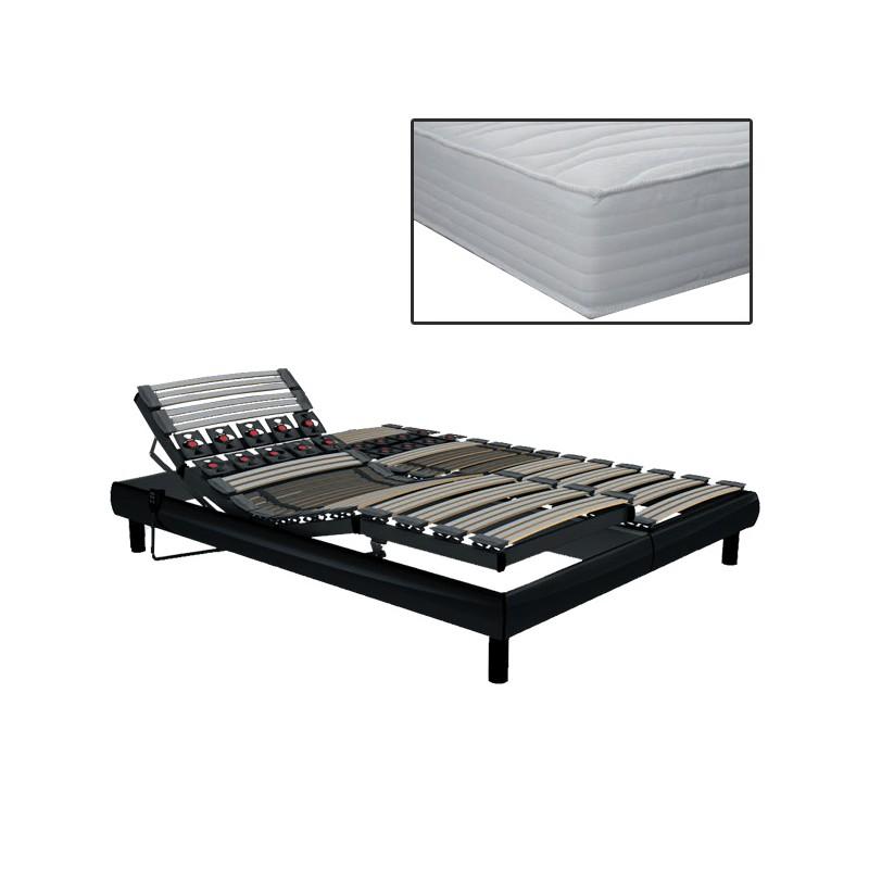 matelas 2x70x190 gallery of lit electrique xx matelas. Black Bedroom Furniture Sets. Home Design Ideas