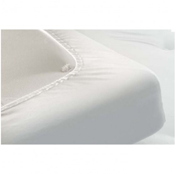 Drap housse en h coton blanc literie lectrique nicole for Drap housse 160x190
