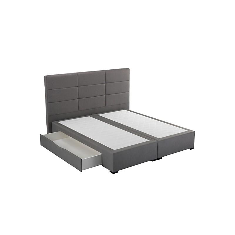 sommier tiroirs gris astoria crown bedding sommier. Black Bedroom Furniture Sets. Home Design Ideas
